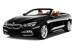 2015 BMW 6 Series 640i 2 Door Convertible Angular Front stock photos of front three quarter view