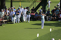Cameron Smith (USA) on the 18th tee during the 1st round at the The Masters , Augusta National, Augusta, Georgia, USA. 11/04/2019.<br /> Picture Fran Caffrey / Golffile.ie<br /> <br /> All photo usage must carry mandatory copyright credit (© Golffile | Fran Caffrey)