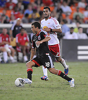 D.C. United midfielder Nick DeLeon (18) The New York Red Bulls tied D.C. United 2-2 at RFK Stadium, Wednesday August 29, 2012.