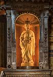 Św. Józefa - figura w obrotowej części ołtarza kościoła w Kościelisku, autorstwa Wojciecha Brzegi. Zakopane.