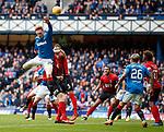 05.05.2018 Rangers v Kilmarnock: David Bates up for a corner