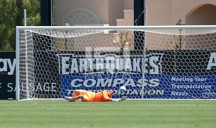 Carlo Cudicini makes the save. San Jose Earthquakes vs Tottenham Hotspur at Buck Shaw Stadium in Santa Clara, California on July 17th, 2010.