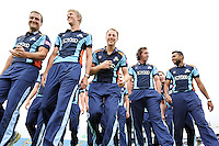 PICTURE BY SIMON WILKINSON/SWPIX.COM - Cricket - Headingley, Leeds, England - 10/09/2012 - Yorkshire captain Andrew Gale with team-mates prior to a photocall as they prepare for the T20 (20/20) Champions League.