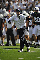 07 September 2013:  Penn State coach Bill O'Brien. The Penn State Nittany Lions defeated the Eastern Michigan Eagles at Beaver Stadium in State College, PA.