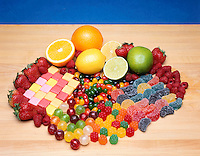 FRUIT &amp; FRUIT-FLAVORED CANDY<br /> The flavor &amp; aroma in fruit &amp; fruit-flavored candy come from a blend of esters.