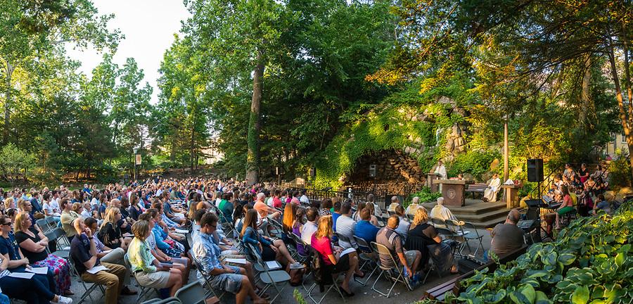 July 13, 2017; ACE Grotto Mass.  (Photo by Barbara Johnston/University of Notre Dame)