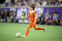 Orlando, Florida - Saturday, April 23, 2016: Houston Dash midfielder Andressa Machry (17) cuts across the middle during an NWSL match between Orlando Pride and Houston Dash at the Orlando Citrus Bowl.