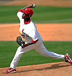 14 March 2007: St. Louis Cardinals pitcher Kelvin Jimenez in the action against the Washington Nationals at Roger Dean Stadium in Jupiter, Florida...Mandatory Photo Credit: Ed Wolfstein Photo