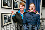 Margaret and Ava McCann with their family portrait at official opening of the the the Faces of Fenit exhibition at the Kerry County Library Tralee on Tuesday