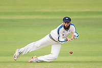 Picture by Allan McKenzie/SWpix.com - 07/09/2017 - Cricket - Specsavers County Championship - Yorkshire County Cricket Club v Middlesex County Cricket Club - Headingley Cricket Ground, Leeds, England - Adil rashid fields.