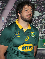 Warren Whiteley (captain) during the South African Official Springbok team photograph at the team hotel Southern Sun Pretoria Hotel,Pretoria South Africa. 9th June 2017(Photo by Steve Haag Sports)