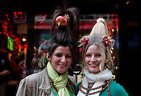 New yorkers take part during the SantaCon party in New York, United States. 15/12/2012. Photo by Kena Betancur/VIEWpress.