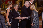 Cristina Cifuentes attends Gala Dinner in honor of Israel president, Reuven Rivlin and his wife Nechama Rivlin at the Royal Palace  in Madrid, Spain. November 06, 2017. (ALTERPHOTOS/Borja B.Hojas)