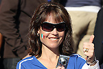 24 JUN 2010:  Female Italy fan in the stands.  The Slovakia National Team led the Italy National Team 1-0 at half time at Ellis Park Stadium in Johannesburg, South Africa in a 2010 FIFA World Cup Group F match.