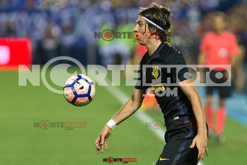 Atletico de Madrid's Filipe Luis during the match of La Liga between Club Deportivo Leganes and Atletico de Madrid at Butarque Estadium in Leganes. August 27, 2016. (ALTERPHOTOS/Rodrigo Jimenez) /NORTEPHOTO