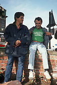 England. Julio Barbosa and Gatão, rubber tappers' leaders visiting England to raise awareness.
