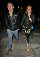 guest/boyfriend? and Sarah-Jane Mee at the Bluebird Cafe launch party, Bluebird Cafe, Television Centre White City, Wood Lane, London, England, UK, on Tuesday 10 April 2018.<br /> CAP/CAN<br /> &copy;CAN/Capital Pictures
