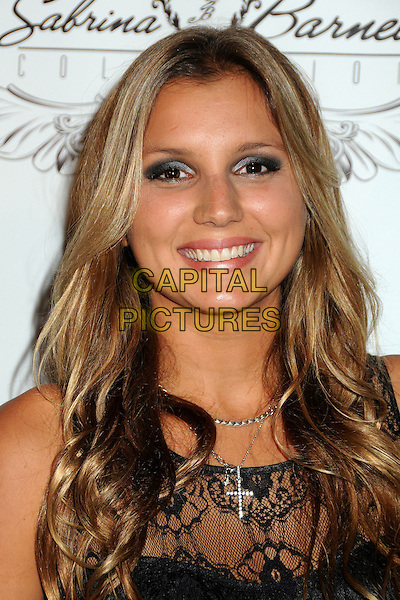 MAYA GABEIRA.4th Annual Sports Dream Celebrity Poker and Pool Party Celebrating the 2010 ESPY Awards held at the Playboy Mansion, Beverly Hills, California, USA..July 12th, 2010.headshot portrait lace black  .CAP/ADM/BP.©Byron Purvis/AdMedia/Capital Pictures.