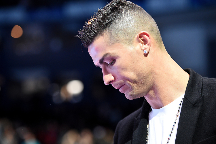 Cristiano Ronaldo in the corporate seats <br /> <br /> Photographer Hannah Fountain/CameraSport<br /> <br /> International Tennis - Nitto ATP World Tour Finals Day 2 - O2 Arena - London - Monday 12th November 2018<br /> <br /> World Copyright © 2018 CameraSport. All rights reserved. 43 Linden Ave. Countesthorpe. Leicester. England. LE8 5PG - Tel: +44 (0) 116 277 4147 - admin@camerasport.com - www.camerasport.com