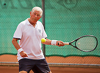 Netherlands, Amstelveen, August 21, 2015, Tennis,  National Veteran Championships, NVK, TV de Kegel,  Gerard van Schaik<br /> Photo: Tennisimages/Henk Koster