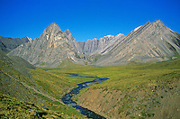 Stream flowing through unnamed valley in the Endicott Mountains in the Brooks Range at Gates of Arctic National Park, Alaska, TomBean_Pix_0729.