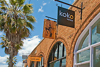 Abbot Kinney restaurants, shops, bars, art galleries, spas, furniture and antiques. Venice, California