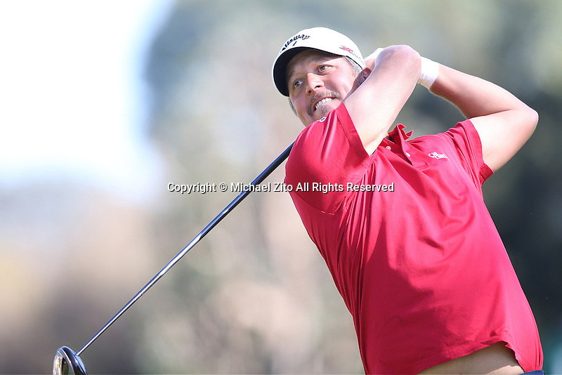 02/17/13 Pacific Palisades, CA: Fredrik Jacobson during  the Final Round of the Northern Trust Open held at Riviera Country Club.