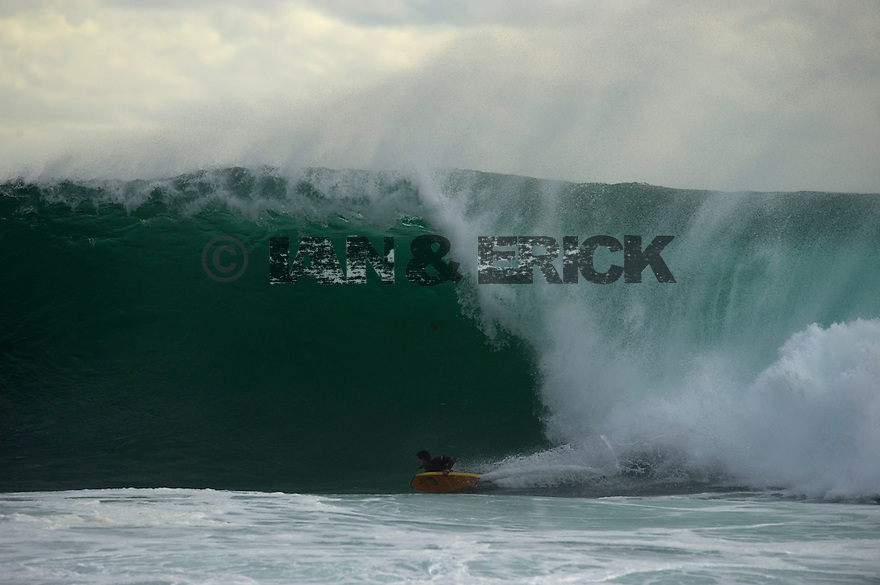 Unknown Bodyboarder at North Point in Gracetown in Western Australia.