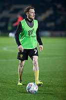 3rd December 2019; Pirelli Stadium, Burton Upon Trent, Staffordshire, England; English League One Football, Burton Albion versus Southend United; Stephen Quinn of Burton Albion with the ball at his feet during the pre match warm up - Strictly Editorial Use Only. No use with unauthorized audio, video, data, fixture lists, club/league logos or 'live' services. Online in-match use limited to 120 images, no video emulation. No use in betting, games or single club/league/player publications