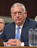 United States Marine Corps General James N. Mattis (retired) testifies before the US Senate Committee on Armed Services during his confirmation hearing to be Secretary of Defense on Capitol Hill in Washington, DC on Thursday, January 12, 2017.<br /> Credit: Ron Sachs / CNP