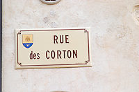 Rue des Corton.  Aloxe-Corton village, Cote de Beaune, d'Or, Burgundy, France
