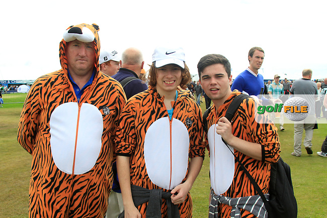 Tiger Woods fans during Thursday's Round 1 of the 141st Open Championship at Royal Lytham & St.Annes, England 19th July 2012 (Photo Eoin Clarke/www.golffile.ie)