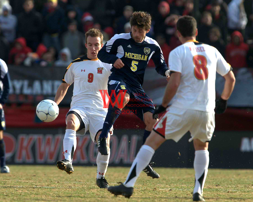 The University of Michigan Men's Soccer Team defeated #3 Maryland in the Elite Eight round of the NCAA College Cup Championship in College Park, MA. December 4th, 2010