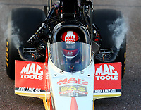 Feb 23, 2018; Chandler, AZ, USA; NHRA top fuel driver Doug Kalitta during qualifying for the Arizona Nationals at Wild Horse Pass Motorsports Park. Mandatory Credit: Mark J. Rebilas-USA TODAY Sports