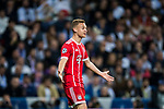 Joshua Kimmich of FC Bayern Munich reacts during the UEFA Champions League Semi-final 2nd leg match between Real Madrid and Bayern Munich at the Estadio Santiago Bernabeu on May 01 2018 in Madrid, Spain. Photo by Diego Souto / Power Sport Images