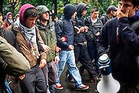 Milano, manifestazione studentesca contro la riforma dell'istruzione --- Milan, student demonstration against the school reform