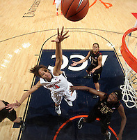 Virginia Cavaliers center Simone Egwu (4) shoots the ball during the game against Florida State Jan. 29, 2012 in Charlottesville, Va.  Virginia defeated Florida State 62-52.