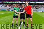 Colin McGillicuddy Glenbeigh Glencar and Tomas Bloomer Rock Saint Patricks in the Junior Football All Ireland Final in Croke Park on Sunday.