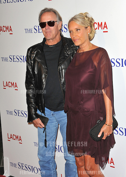 "Peter Fonda & wife Margaret (Parky) DeVogelaere at the premiere of ""The Sessions"" at the LA County Museum of Art..October 10, 2012  Los Angeles, CA.Picture: Paul Smith / Featureflash"