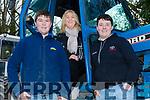 Joseph Courtney (Listry), Martina Flynn (Currow) and Wayne O'Sullivan (Killarney) at the James Ashe Memorial Tractor run in Boolteens on Sunday.