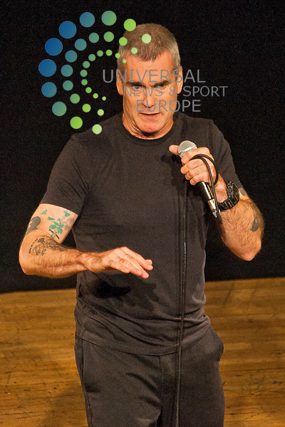 Henry Rollins, American spoken word artist and former member of Black Flag, performs at The Queens Hall on Wednesday, August 08, 2012.  ..Picture: Malcolm McCurrach - Universal News and Sport (Europe) - 08/08/2012