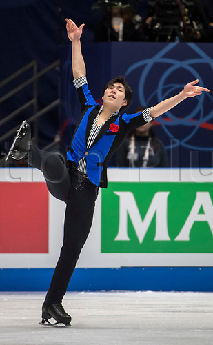 24th March 2018, Mediolanum Forum, Milan, Italy;  Keiji TANAKA (JPN) during the ISU World Figure Skating Championships, Men Free Skating at Mediolanum Forum in Milan, Italy