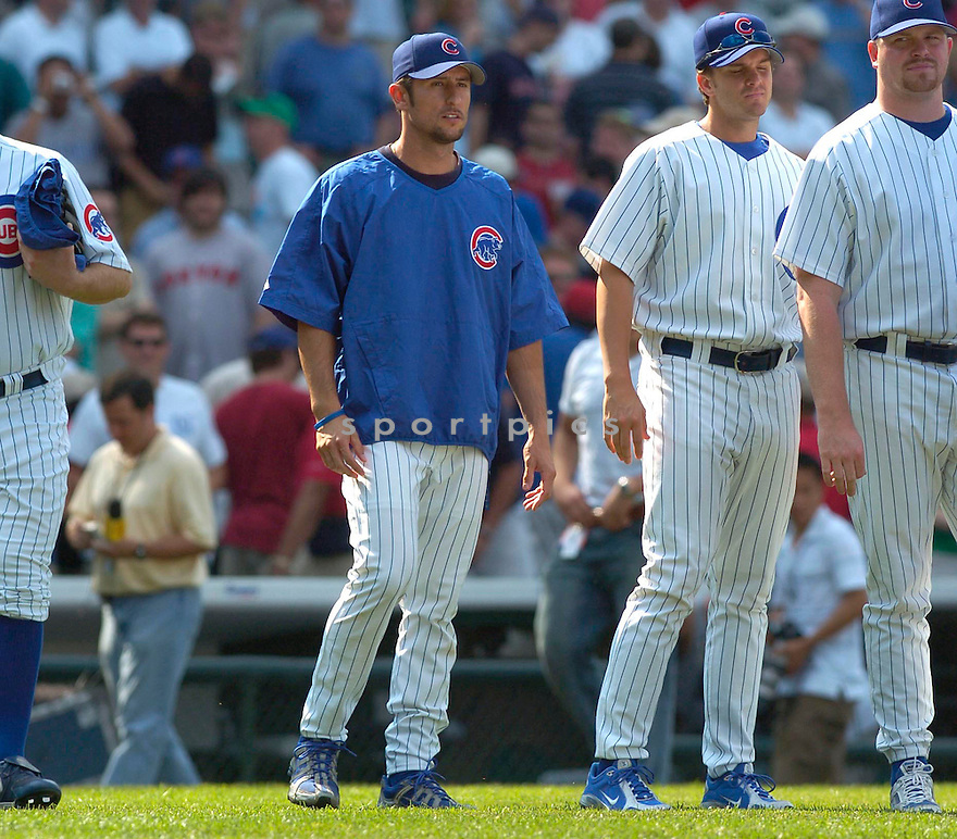 Nomar Garciaparra, of the Texas Rangers, in action against the  Chicago Cubs, on June 10, 2005...Cubs win 14-6...David Durochiki / SportPics