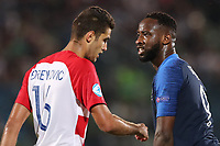 Toni Borevkovic of Croatia and Moussa Dembele of France looks on<br /> Serravalle 21-06-2019 Stadio San Marino Stadium <br /> Football UEFA Under 21 Championship Italy 2019<br /> Group Stage - Final Tournament Group C<br /> France - Croatia<br /> Photo Cesare Purini / Insidefoto
