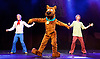 Scooby-Doo! Live Musical Mysteries <br /> at The Palladium, London, Great Britain <br /> press photocall <br /> 17th August 2016 <br /> <br /> Chris Warner Drake as Fred <br /> Joe Goldie as Scooby-Doo <br /> Charlie Haskins as Shaggy <br /> <br /> Photograph by Elliott Franks <br /> Image licensed to Elliott Franks Photography Services