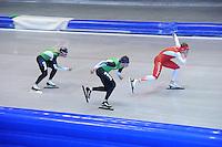 SCHAATSEN: IJSSTADION THIALF: 17-06-2013, Training zomerijs, Sven Kramer, Koen Verweij, Jan Blokhuijsen, ©foto Martin de Jong