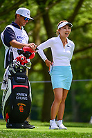 Karen Chung (USA) waits to tee off on 17 during Thursday's round 1 of the 2017 KPMG Women's PGA Championship, at Olympia Fields Country Club, Olympia Fields, Illinois. 6/29/2017.<br /> Picture: Golffile | Ken Murray<br /> <br /> <br /> All photo usage must carry mandatory copyright credit (&copy; Golffile | Ken Murray)