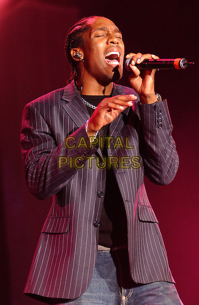 LEMAR .The Girlguiding Big Gig At Wembley Arena, London.11th October 2003 .stage, concert, live, music, singing, half length, half-length, pintripe.www.capitalpictures.com.sales@capitalpictures.com.Supplied By Capital PIctures