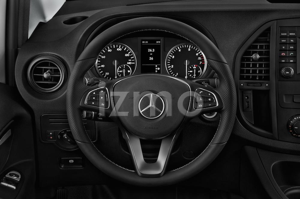 Car pictures of steering wheel view of a 2016 Mercedes Benz Metris Cargo-Van 4 Door Cargo Van Steering Wheel