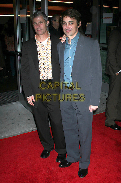 "DAVID SIEGEL & SCOTT McGHEE.""Bee Season"" New York Premiere, IFC Theater,  New York City..November 1st, 2005.Ref: IW.full length black blue suit directors.www.capitalpictures.com.sales@capitalpictures.com.©Capital Pictures"